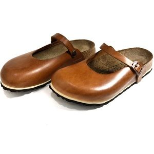Birkis Kassey LTD ED Oiled Leather Clog w/ Soft FB